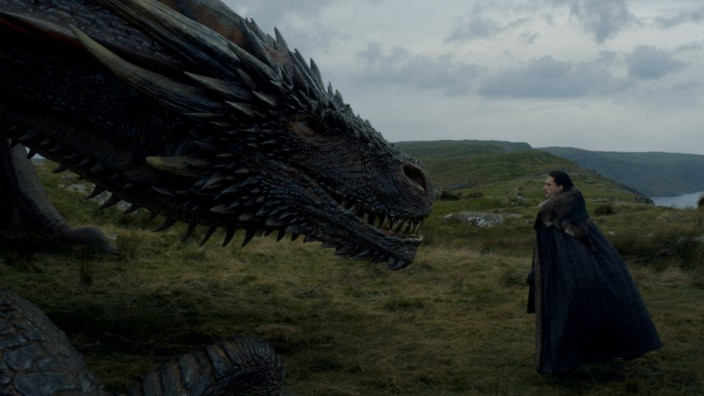 Game of Thrones - Jon Snow und Drogon