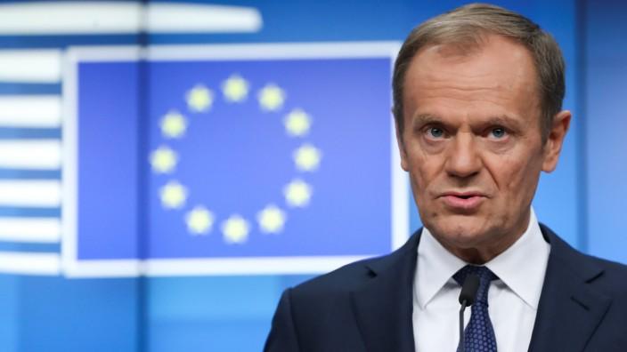 EU-Ratspräsident Donald Tusk 2019 in Brüssel