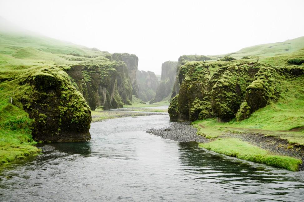Island Schlucht Fjaðrárgljúfur