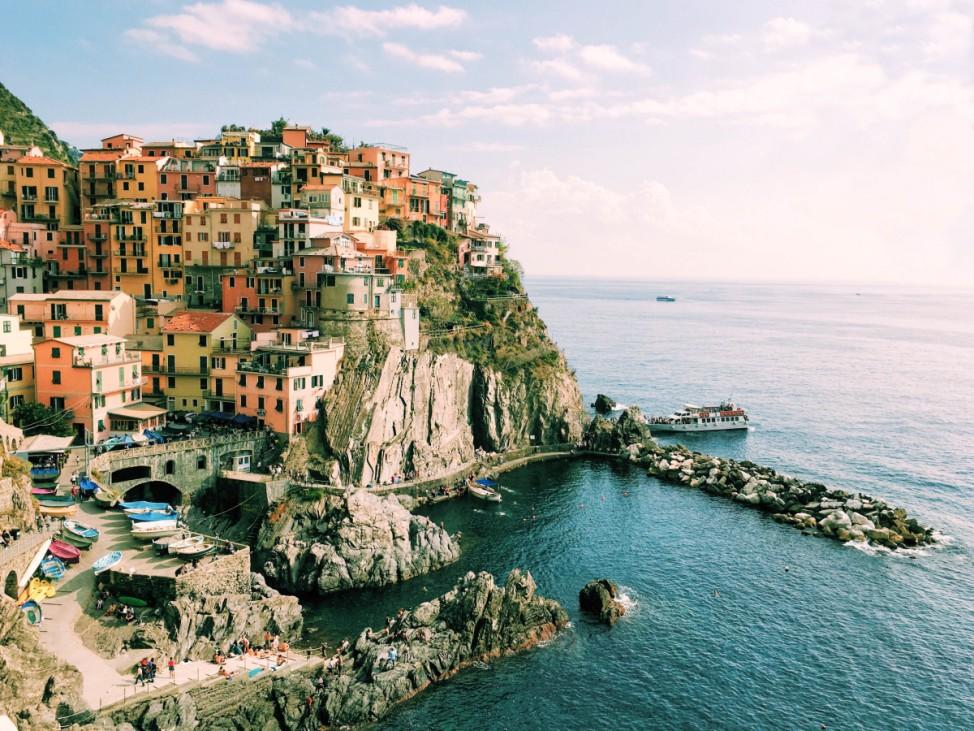 Der Ort Manarola in der Region Cinque Terre in Italien