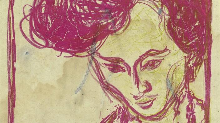 Ernst Ludwig Kirchner Kopf Doris, 1907 Farblithografie