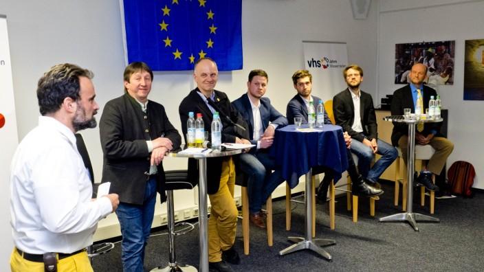 VHS Podium zu Europawahl