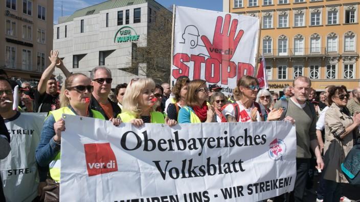 Druckerstreik Marienplatz