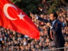 Newly elected Mayor of Istanbul Ekrem Imamoglu addresses his supporters outside the City Hall in Istanbul