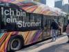 Test für Elektro-Bustram in Frankfurt