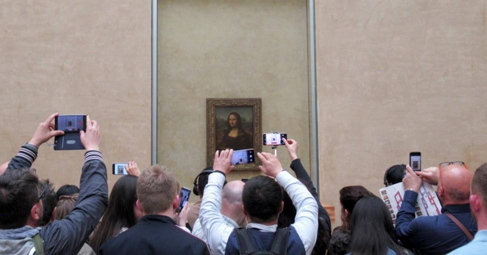 Besucher fotografieren 'Mona Lisa'