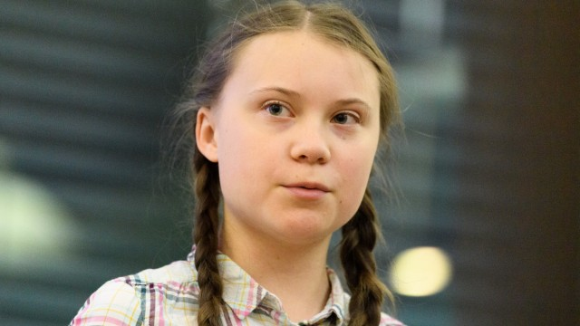 Greta Thunberg Addresses Parliament Climate Change Group Meeting