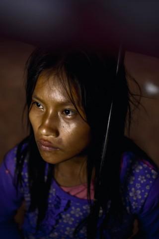 Ein Mädchen der indigenen Awajún-Ethnie in Peru.