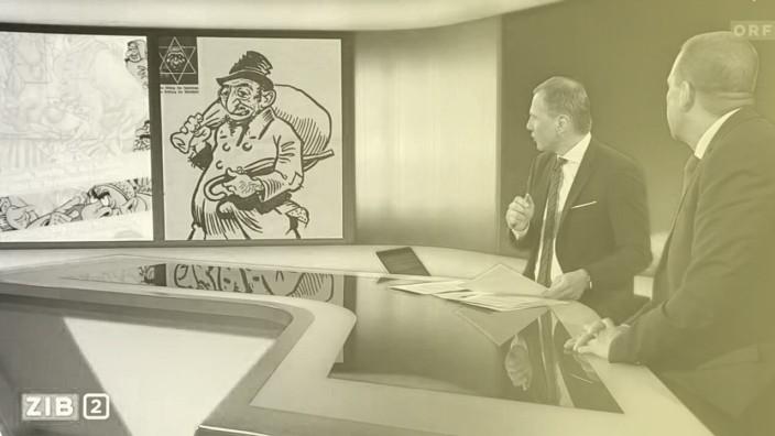 """ORF-Moderator Armin Wolf und FPÖ-Generalsekretär Harald Vilimsky in der Sendung """"Zeit im Bild"""""""