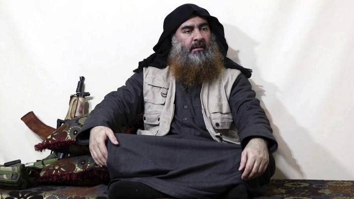 Terrormiliz: Sichtbar gealtert ist Abu Bakr al-Baghdadi auf dem am Montag verbreiteten Video zu sehen.