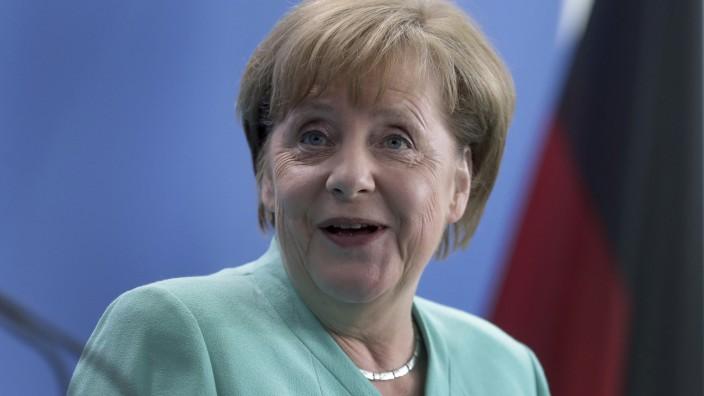 Bundeskanzlerin Angela Merkel (CDU) im April 2019 in Berlin