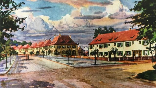 Wohnungsnot in Nürnberg: In Ziegelstein wurden mit den Siedlerhäusern auch Gemeinschaftsgebäude und Läden geplant.