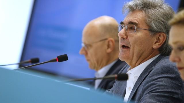 Siemens-Chef Joe Kaeser auf einer Pressekonferenz 2019 in München
