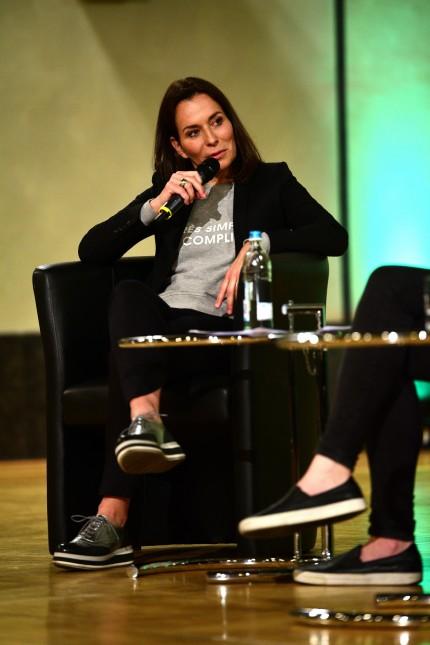 Anne Will spricht an der Münchner LMU über ihre Arbeit, 2019