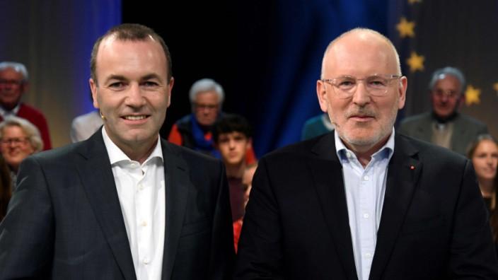 Europawahl: Was man auch von den Spitzenkandidaten Weber und Timmermans hält, es wäre fatal, sie zu übergehen.