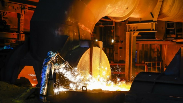 15 04 2019 Duisburg Ruhrgebiet Nordrhein Westfalen Deutschland ThyssenKrupp Steel ein Stahla