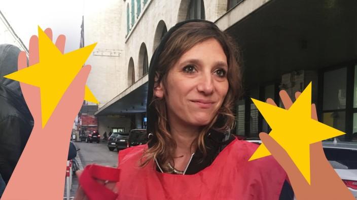 """Serie: """"Wir sind Europa"""": Giovanna Cavallo, 41, ist Aktivistin der Hilfsorganisation Baobab Experience. Sie ist zuständig für die juristische Unterstützung der Flüchtlinge."""