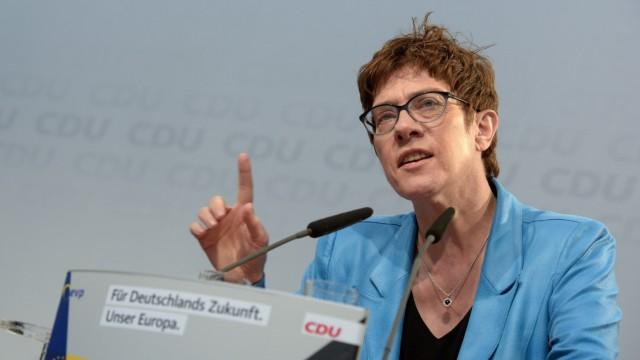Kundgebung von CDU/CSU zur Europawahl
