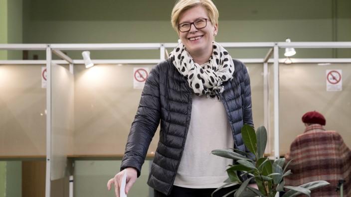 Litauen - Ingrida Šimonytė bei der Präsidentwahl