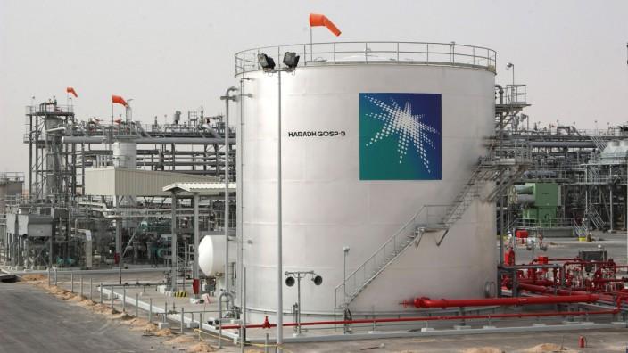 Persischer Golf: Ölförderanlage in Haradh (Foto von 2006): In Saudi-Arabien sind nach offiziellen Angaben zwei Ölpumpanlagen angegriffen worden.