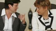 Die beiden sollen es jetzt richten für die CDU: Sozialministerin Christine Lieberknecht (links) und Vize-Ministerpräsidentin Birgit Diezel.