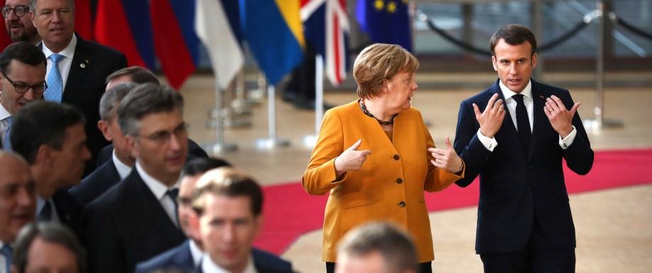 SZ-Interview der Kanzlerin: Angela Merkel und Emmanuel Macron im März beim EU-Gipfel in Brüssel