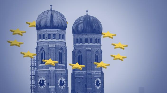 Europawahl München Frauenkirche EU