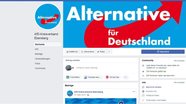 AfD Pornhub Kreisverband Ebersberg Porno Facebook