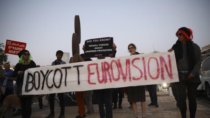Vor dem Eurovision Song Contest - Protest  im Gazastreifen