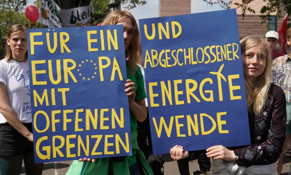 Demonstrationen für Europa - Leipzig