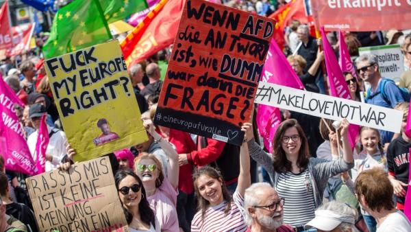 Demonstrationen für Europa  - Stuttgart