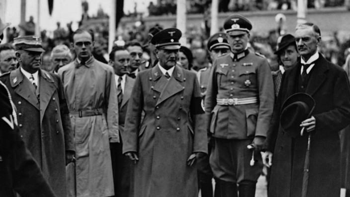 Verabschiedung Chamberlains nach Beendigung der Münchener Konferenz, 1938