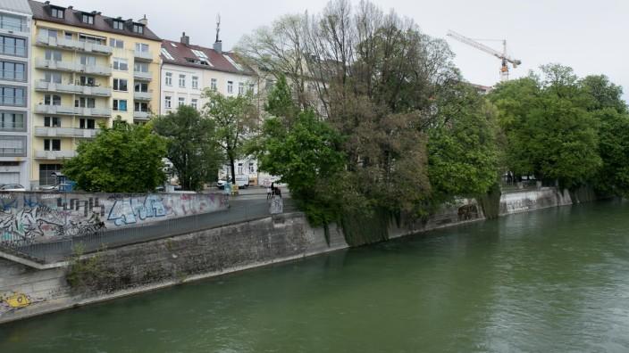 Isarparallele, Umbau Isarufer entlang der Erhardtstraße