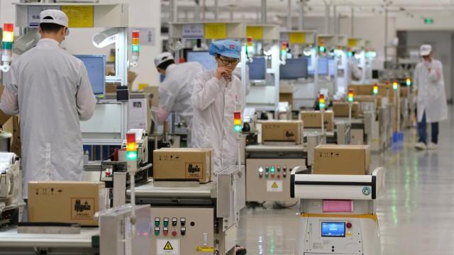 Huawei-Produktion in Guangdong, China