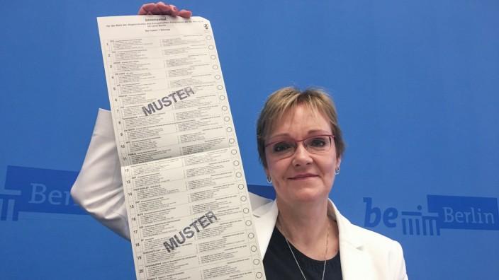 Stimmzettel zur Europawahl 2019