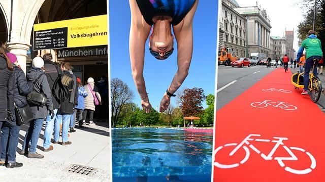 Basisdemokratie: Drei der vergangenen bzw. noch laufenden Bürgerbegehren: Für Artenvielfalt, fürs frühe Schwimmen, für bessere Radverkehrspolitik