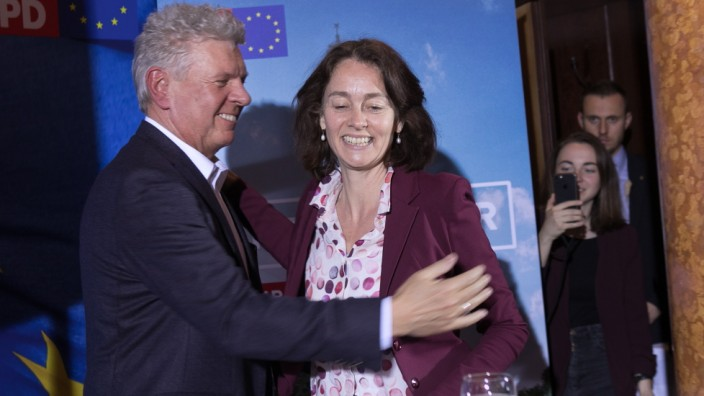 Katarina Barley bei Europawahl-Kundgebung in München, 2019