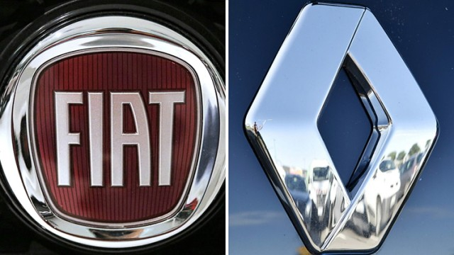 Logos von Fiat und Renault