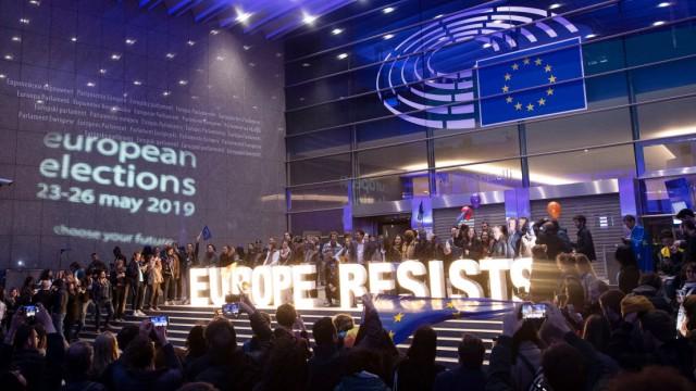 Feier nach der Europawahl 2019 in Brüssel