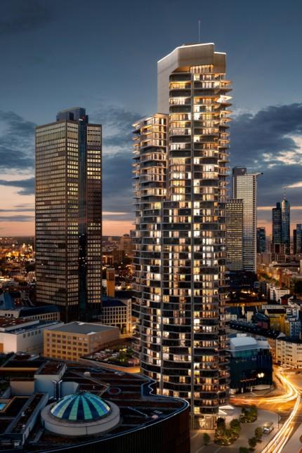 Wohntürme und Bürohochhäuser in Frankfurt