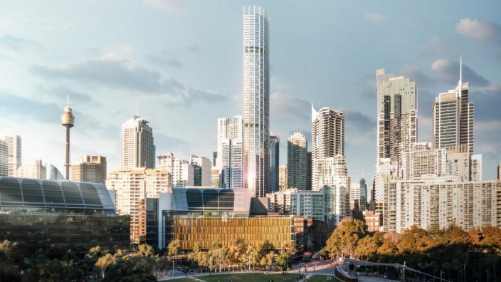 Architektur: Der Entwurf für ein 270 Meter hohes Wohngebäude in Sydney.