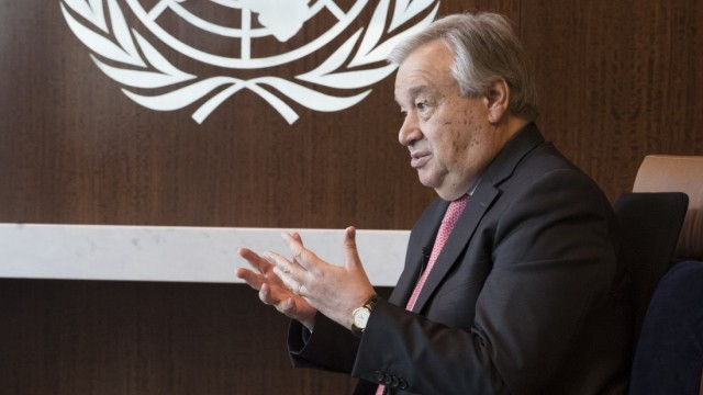 Antónie Guterres, UN