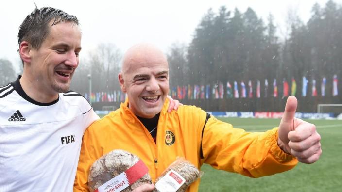 Fussball International 29 02 2016 FIFA Praesident Gianni Infantino Schweiz am Ball erster Tag im