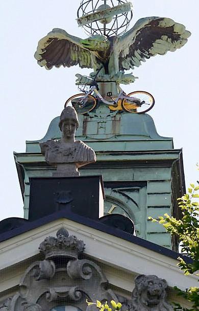 Fahrrad im Uhrenturm