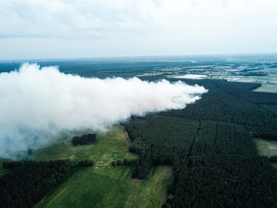 Waldbrand bei Jüterbog