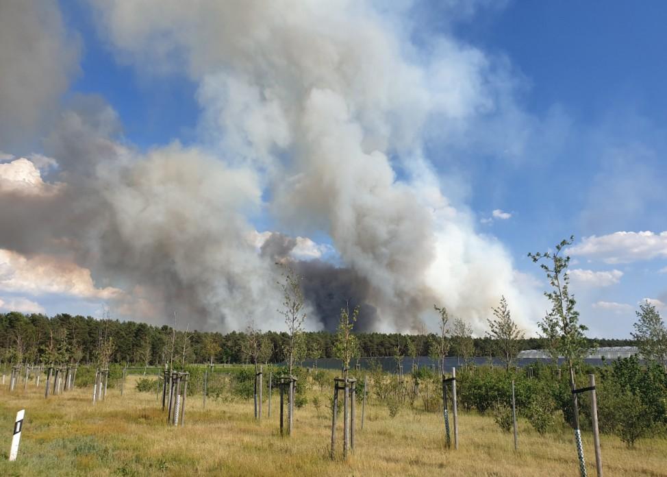 Waldbrand bei Hennickendorf