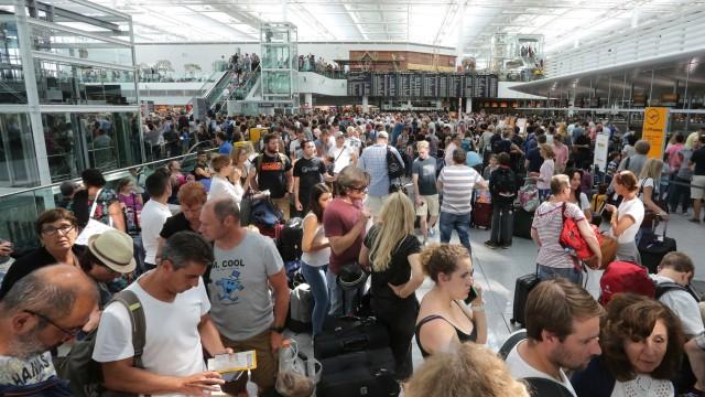 Chaos am Münchner Flughafen, 2018