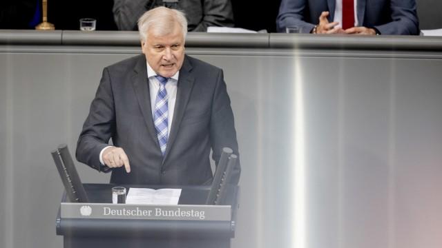 Horst Seehofer im Deutschen Bundestag