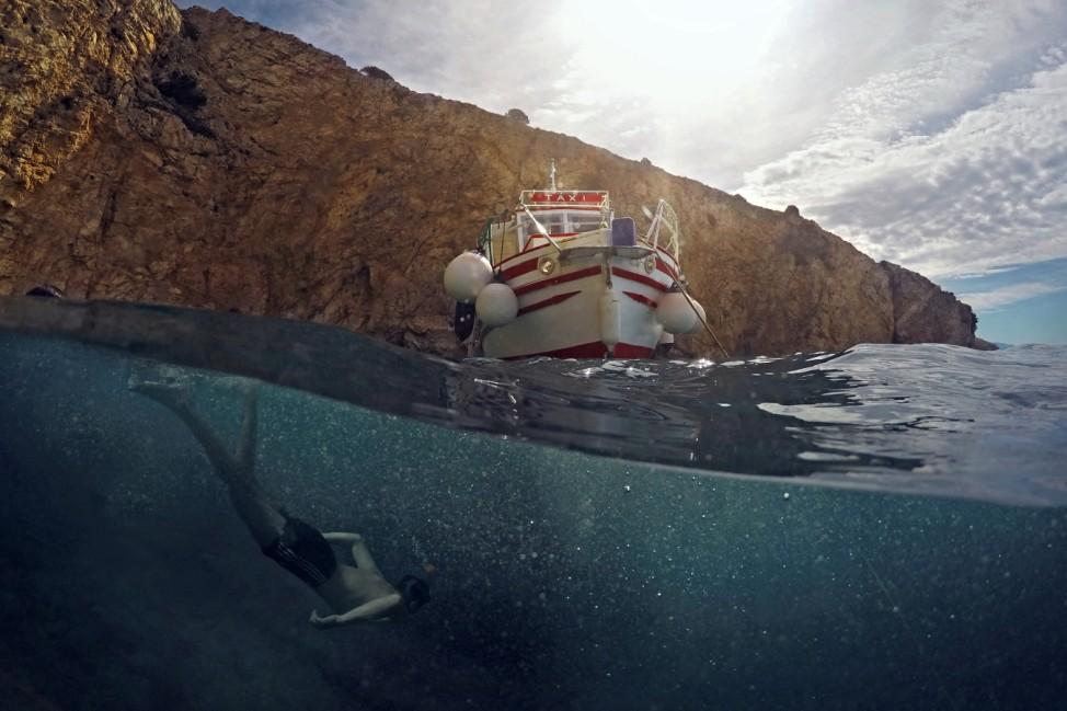 Trinkgeld Krk Kroatien Croatia Boot Meer Baden Urlaub Ferien