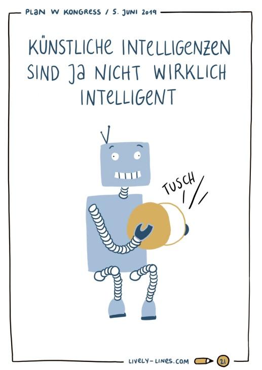 Künstliche Intelligenz Lisa Frühbeis Livezeichnung